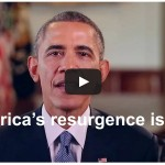 President Obama weekly address: 'America's resurgence is real.' (VIDEO)