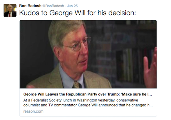 George Will leaves Republican Party