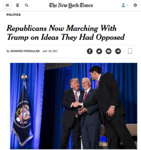 New York Times Amazed That Republicans Are Embracing Republican Ideas