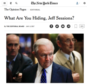 NYT: If Only We Knew What We Already Know About Jeff Sessions