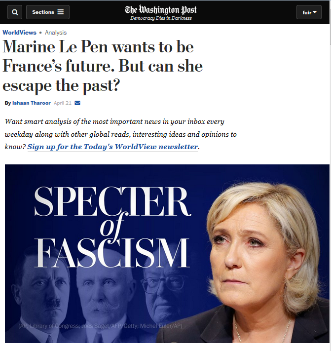 WaPo Can Identify 'Far Right' in France–but in White House, It's 'Conservative'
